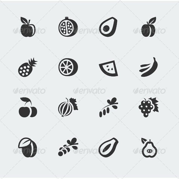 GraphicRiver Fruits and Berries Icons 7518658