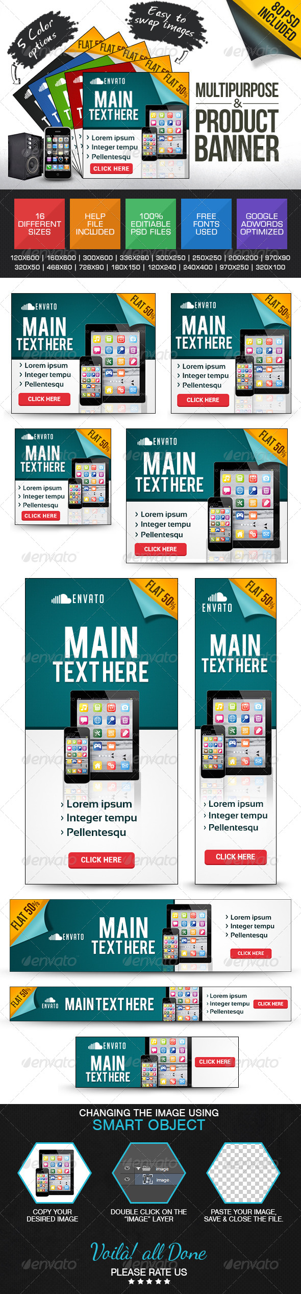 GraphicRiver Multi Purpose Banner Ad set 7518724