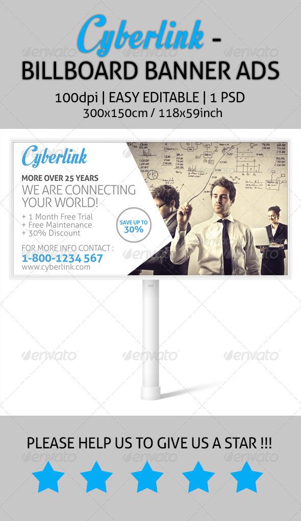 GraphicRiver Cyberlink Billboard Banner Ads 7518922