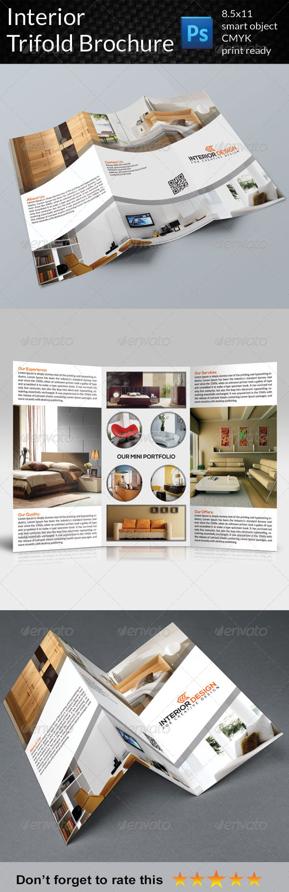 GraphicRiver Interior Trifold Brochure 7518961