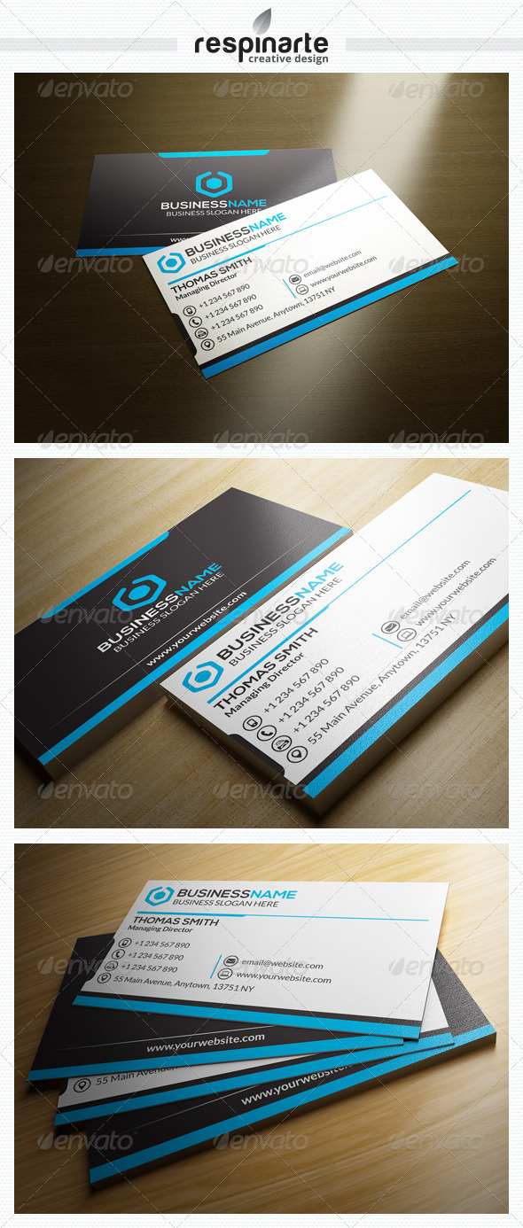 GraphicRiver Corporate Business Card RA4 7519243