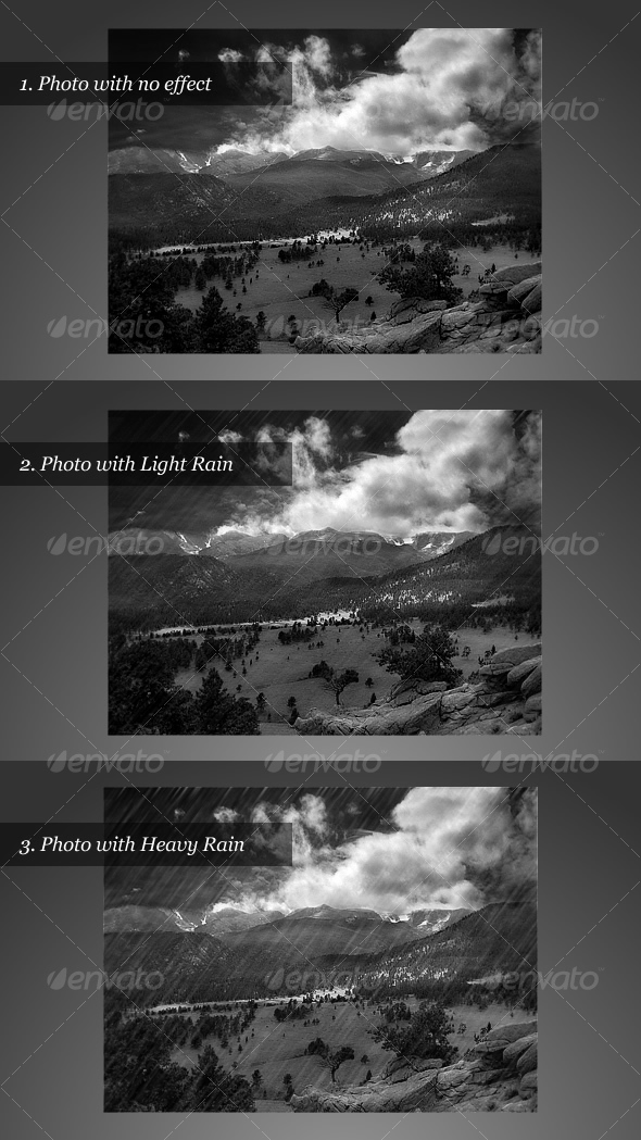 GraphicRiver Realistic Rain Effect 31916