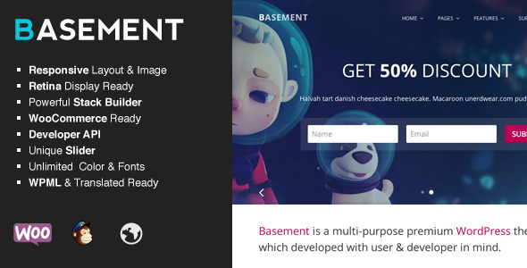 ThemeForest Basement Responsive Multi-Purpose Theme 7458543