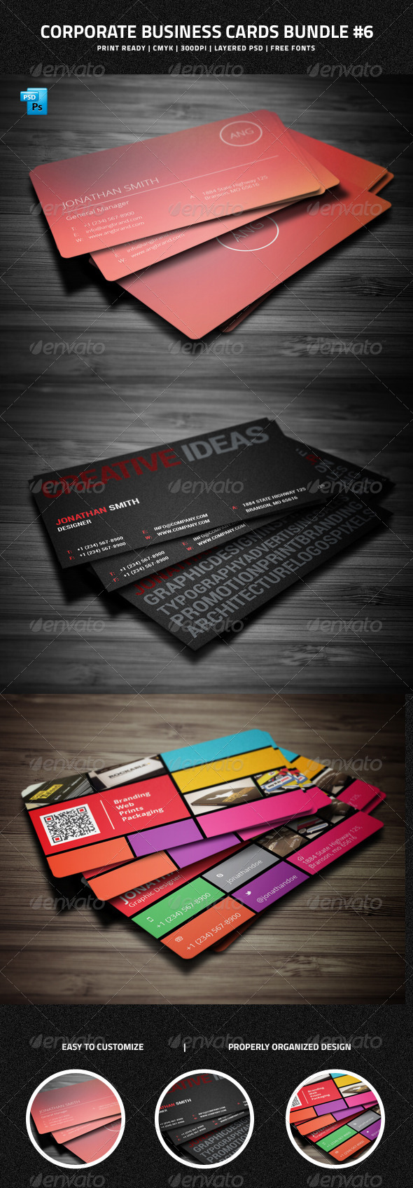 GraphicRiver Corporate Business Cards Bundle #6 7519607