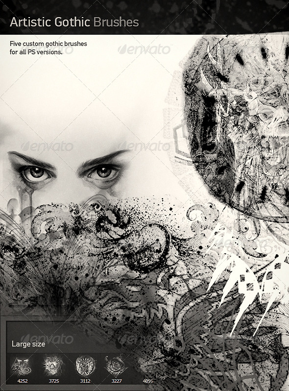 GraphicRiver Artistic Gothic Brushes 7513362