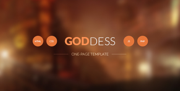 ThemeForest Goddess One Page Template 7484706