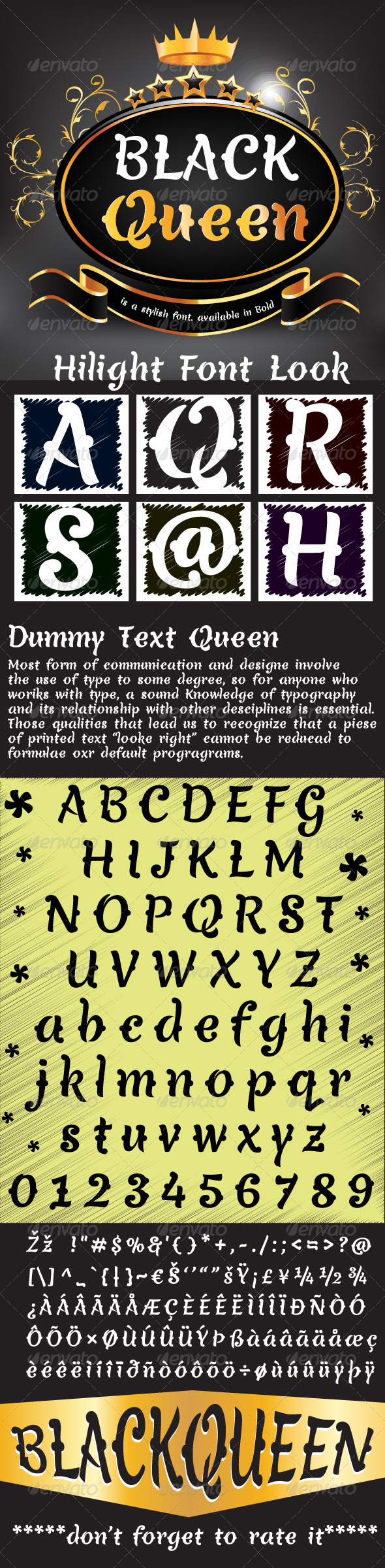 GraphicRiver Black Queen Font 7519795