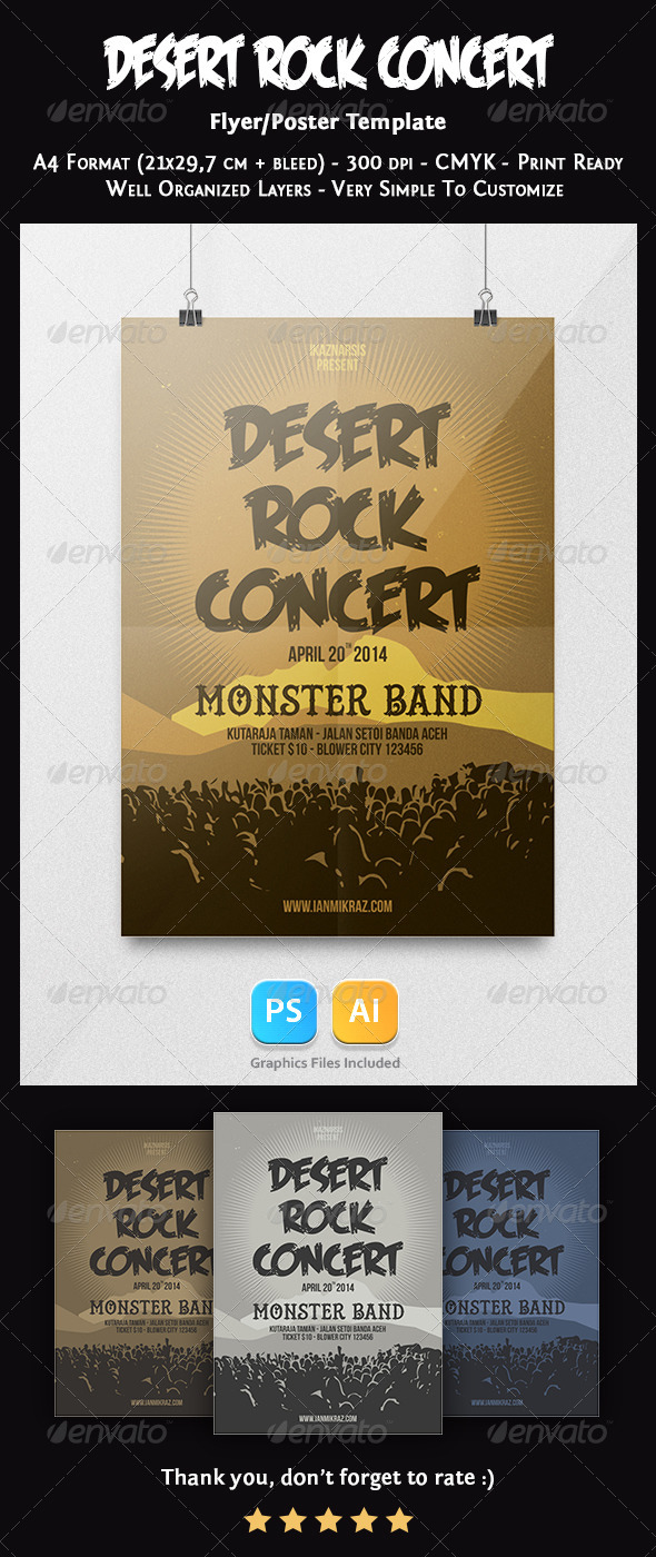 GraphicRiver Desert Rock Concert Flyer Template 7519825