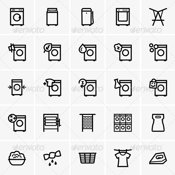 GraphicRiver Laundry Icons 7519841
