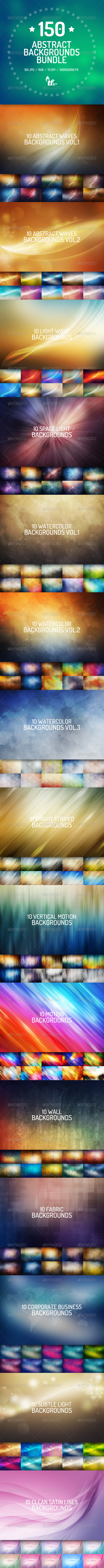 GraphicRiver 150 Abstract Backgrounds Bundle 7519945