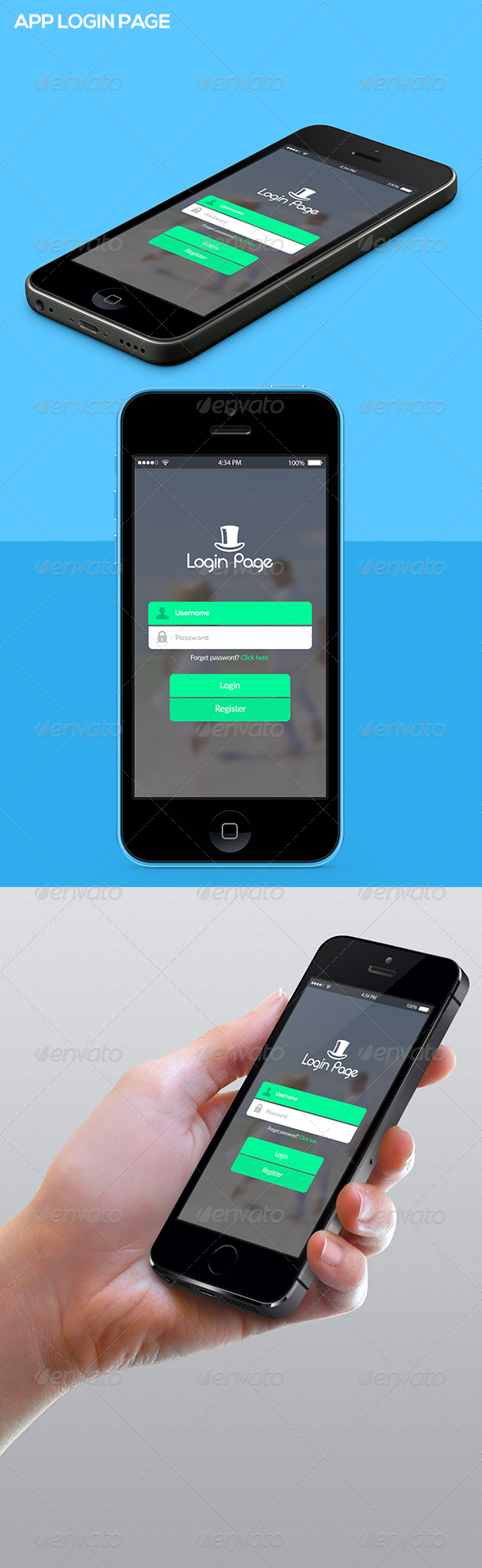 GraphicRiver App Login Page 7520089