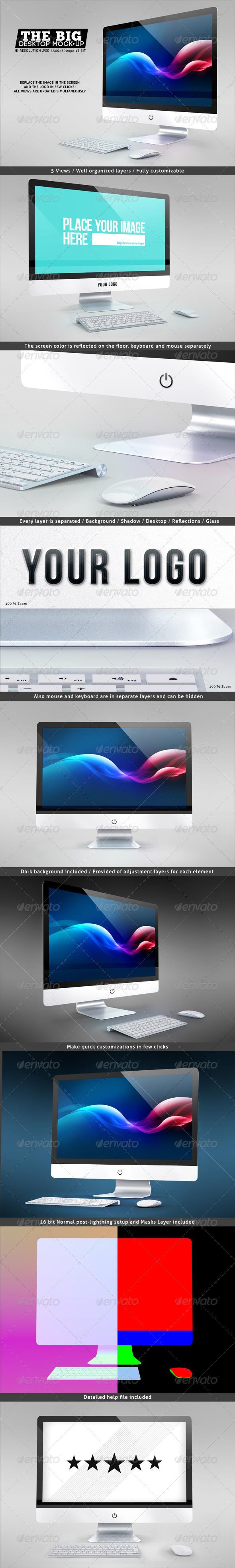 GraphicRiver The Big Desktop Screen Mock-up 7517221