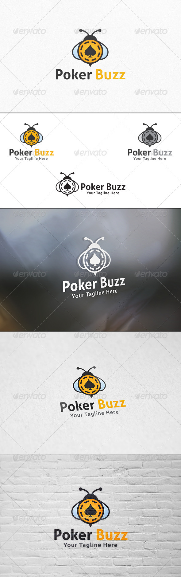 GraphicRiver Poker Buzz Logo Template 7520191