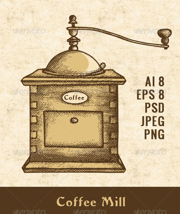 GraphicRiver Coffee Mill 7520456
