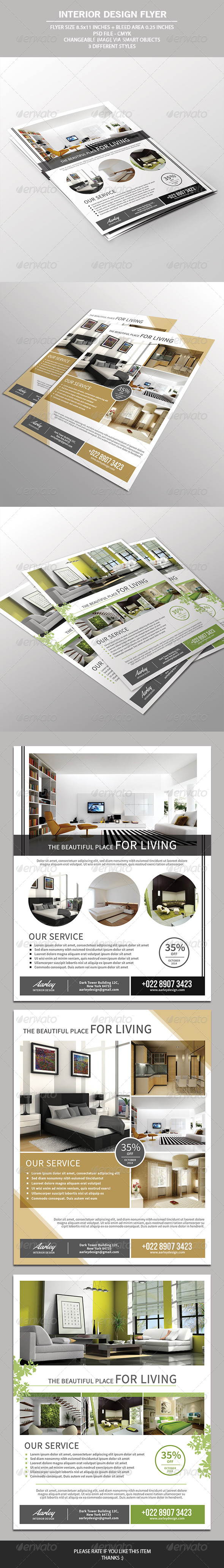 GraphicRiver Interior Design Flyer 7520574