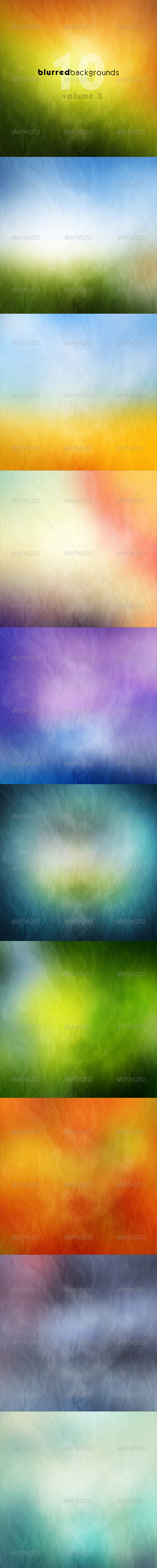GraphicRiver Blurred Backgrounds Vol 3 7520582