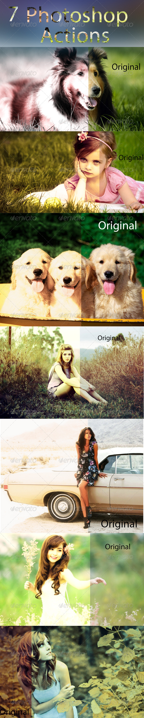 GraphicRiver 7 Photoshop Actions 7520631