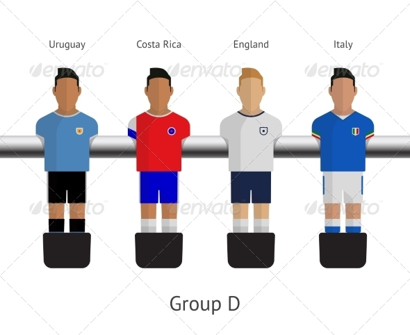 GraphicRiver Table Football Soccer Players Group D 7520648