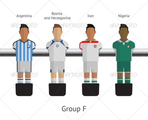 GraphicRiver Table Football Soccer Players Group F 7520654
