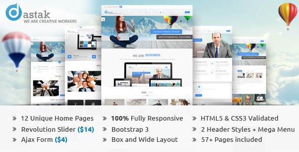 ThemeForest Dastak Multipurpose Business HTML Web Template 7162167