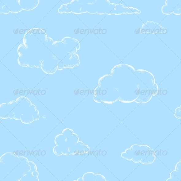 GraphicRiver Seamless Pattern of Sketch Clouds 7520730