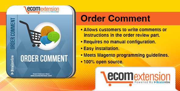 CodeCanyon Magento Order Comment Extension 7521406