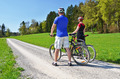 Travelers with mountain bikes - PhotoDune Item for Sale