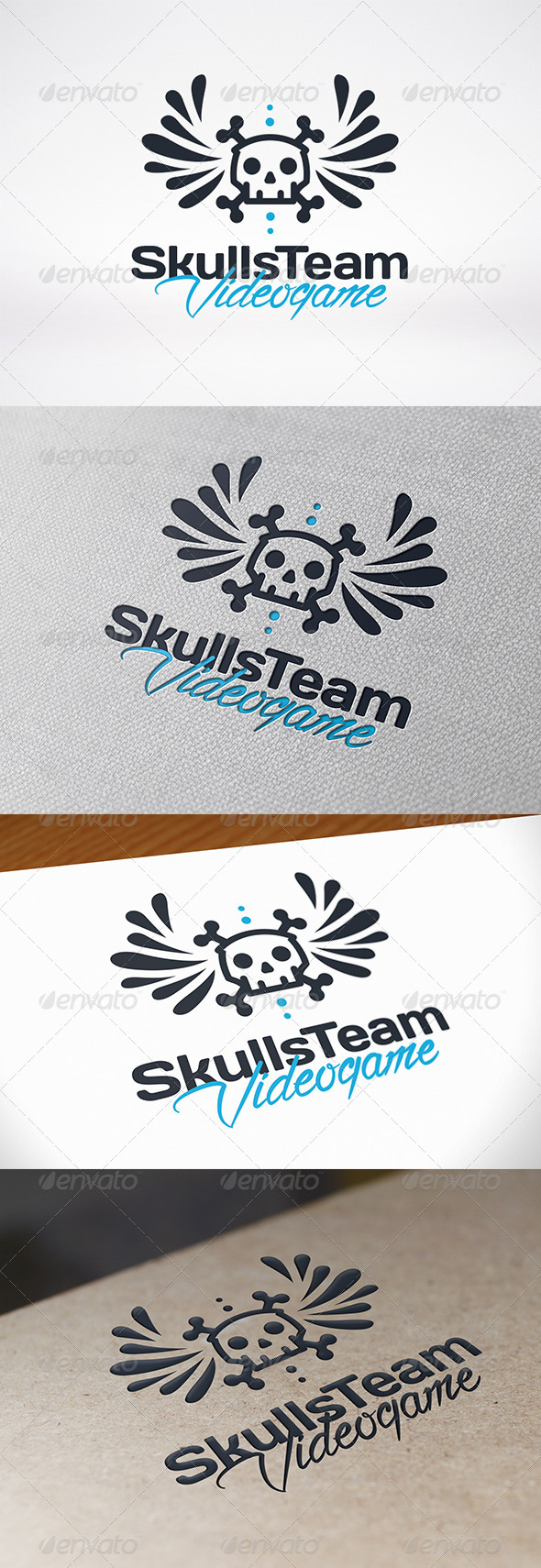 GraphicRiver Skull Wings Logo Template 7521613