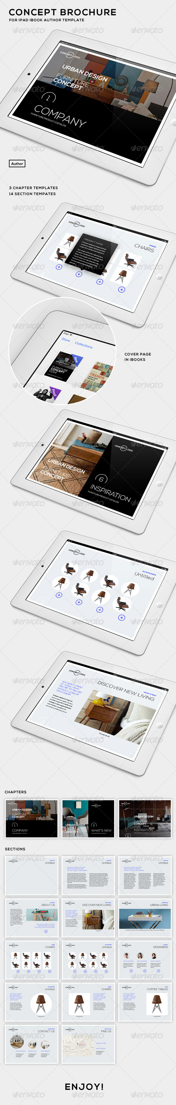 GraphicRiver Concept Brochure for iPad iBooks Author Template 7521770