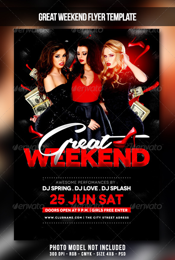 GraphicRiver Great Weekend Flyer 7521794
