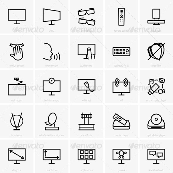 GraphicRiver TV Icons 7521837