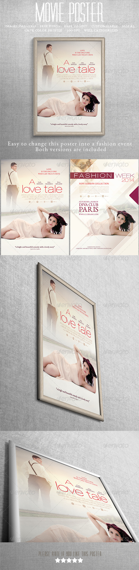 GraphicRiver Romance Movie Poster Or Fashion Poster 7514830