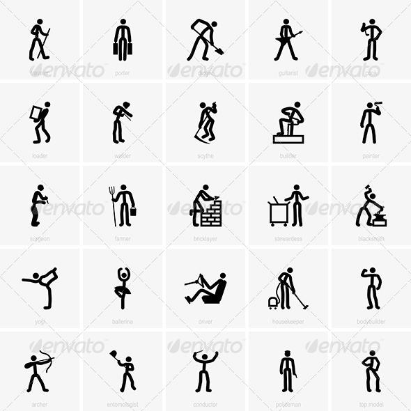 GraphicRiver Profession Icons 7521857