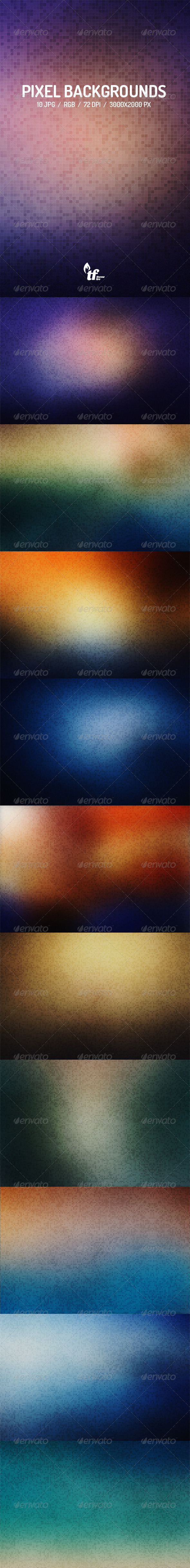 GraphicRiver Pixel Backgrounds 7521864