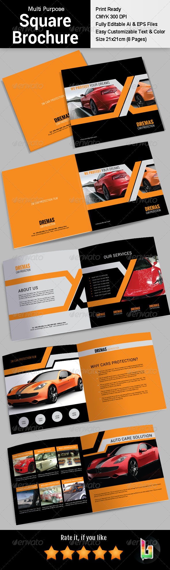 GraphicRiver Multi Purpose Square Brochure 7521926