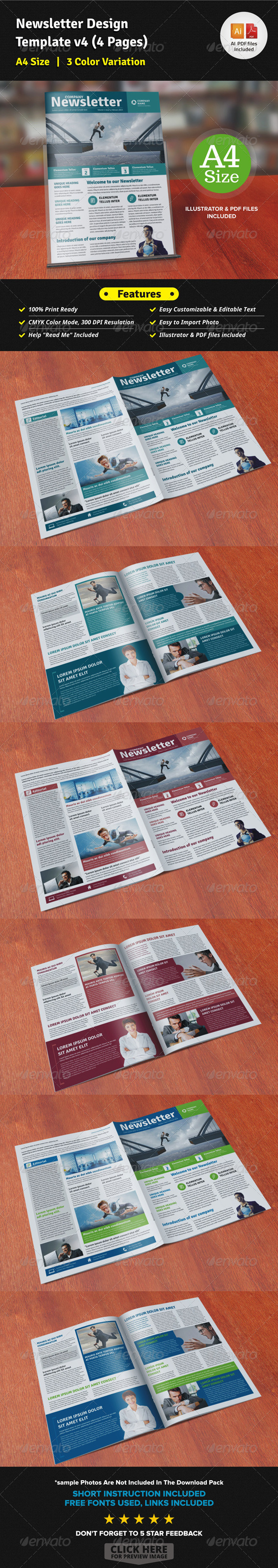 GraphicRiver Newsletter Design Template v4 4 Pages 7521975