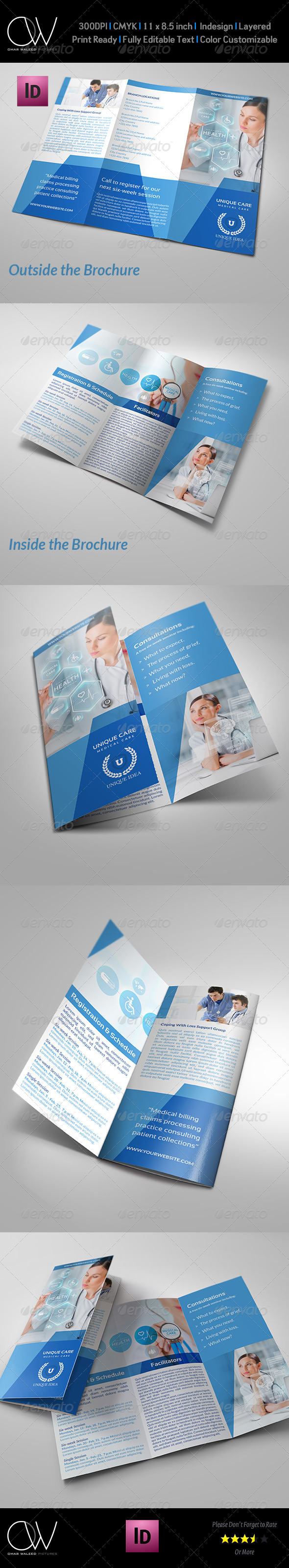 GraphicRiver Hospital Tri-Fold Brochure Template Vol.2 7522023