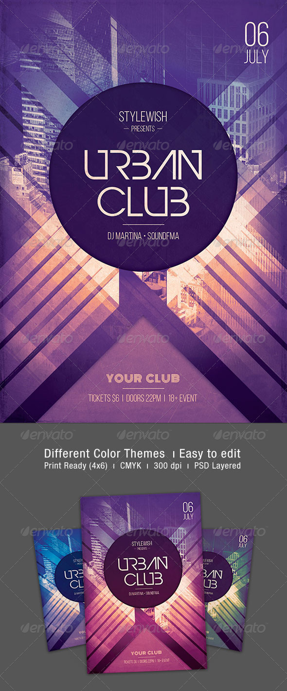 GraphicRiver Urban Club Flyer 7522048