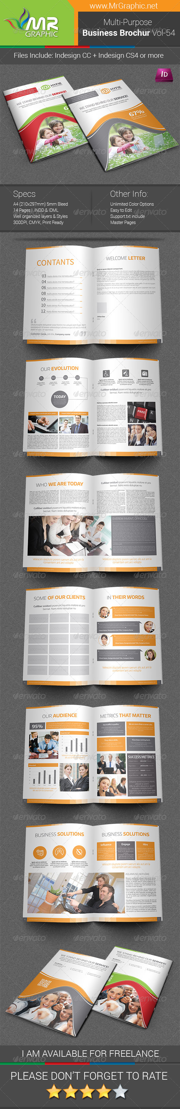 GraphicRiver Multipurpose Business Brochure Template Vol-54 7522100