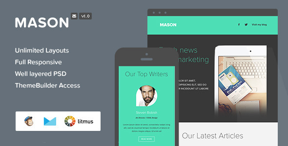 ThemeForest Mason Responsive Email & Themebuilder Access 7522253