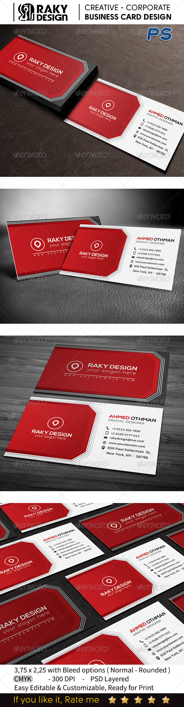 GraphicRiver Creative Business Card V03 7522283