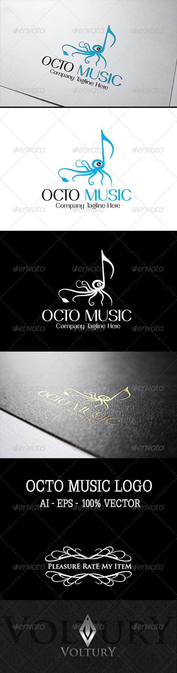 GraphicRiver Octo Music Logo 7522309