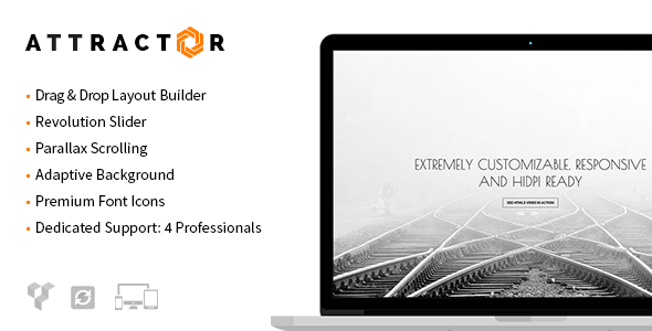 ThemeForest Attractor Responsive One Page Parallax Theme 7315473