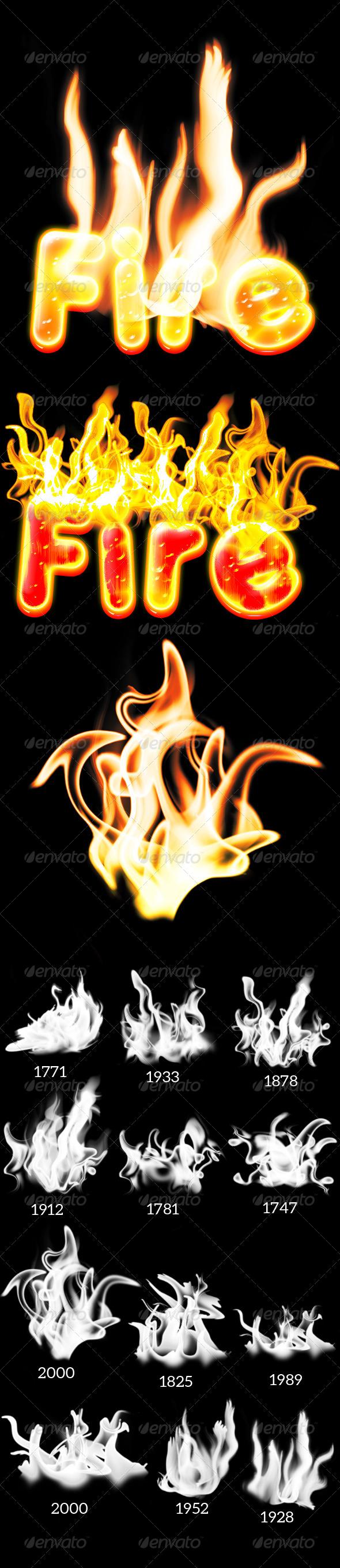 GraphicRiver 12 Fire brush 7522551