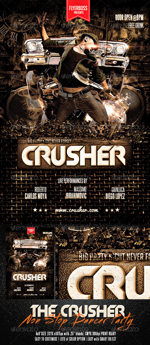 GraphicRiver The Crusher Flyer 7522613
