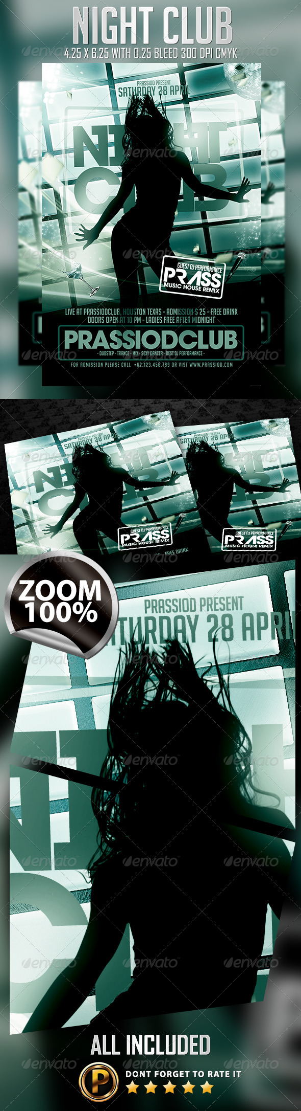 GraphicRiver Night Club Flyer Template 7522646