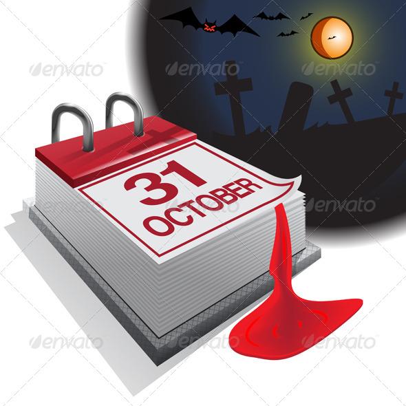 GraphicRiver Halloween Calendar 7522689