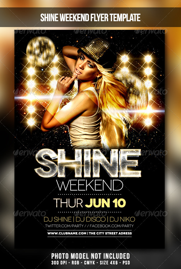 GraphicRiver Shine Weekend Flyer 7522803