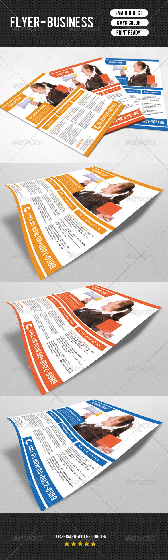 GraphicRiver Corporate Flyer Template 7523139