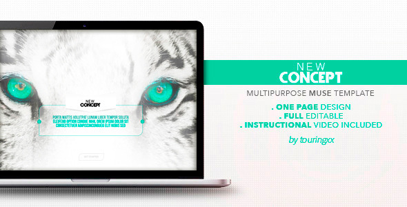 ThemeForest New Concept Multipurpose One Page Muse Theme 7288186